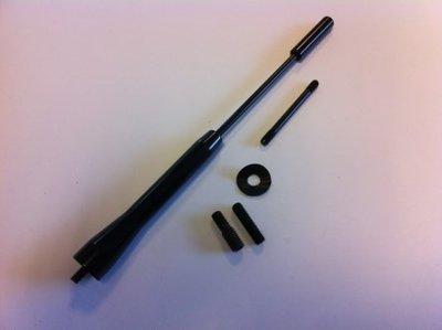 Antenne spriet Aluminium zwart M5/M6 (165mm)